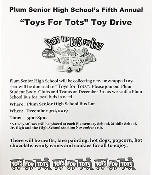 Toys for Tots Plum