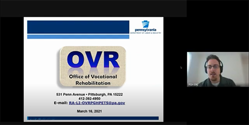 Office of Vocational Rehabilitation (OVR): Check out their website: OVR Website  OVR Information/Downloads OVR - Plum Presentation (slides used in the recorded presentation) OVR Release Form Business Services Pamphlet Early Reach Programming Pamphlet Order of Selection Information (the waitlist) OVR Services Handbook Pre-Application Instructions Pre-Employment Transition Services (Pre-ETS) Pamphlet