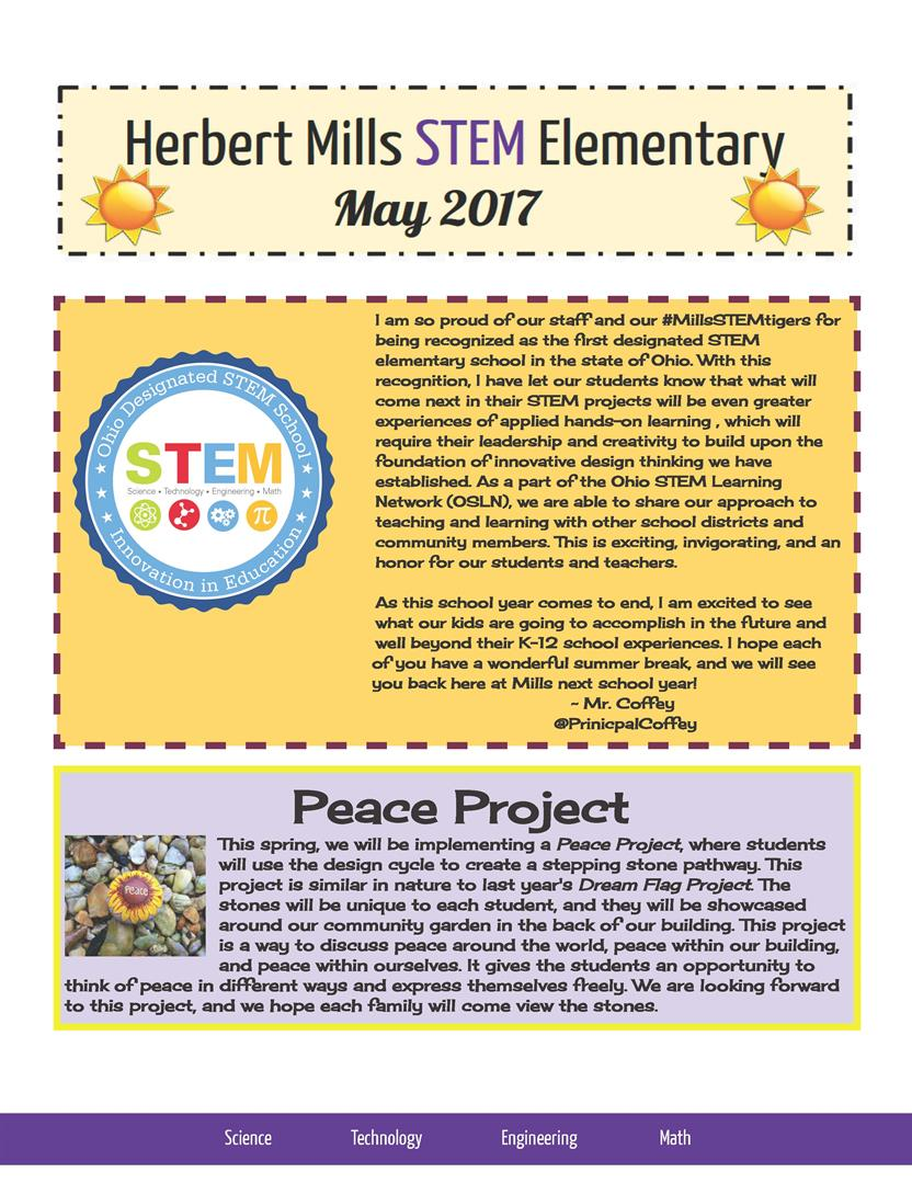Herbert Mills Stem Newsletter