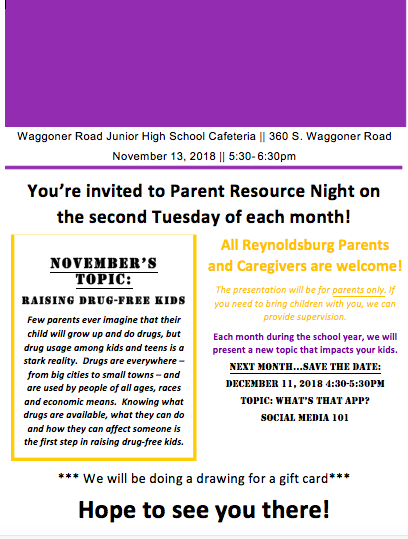 Parent Resource Night