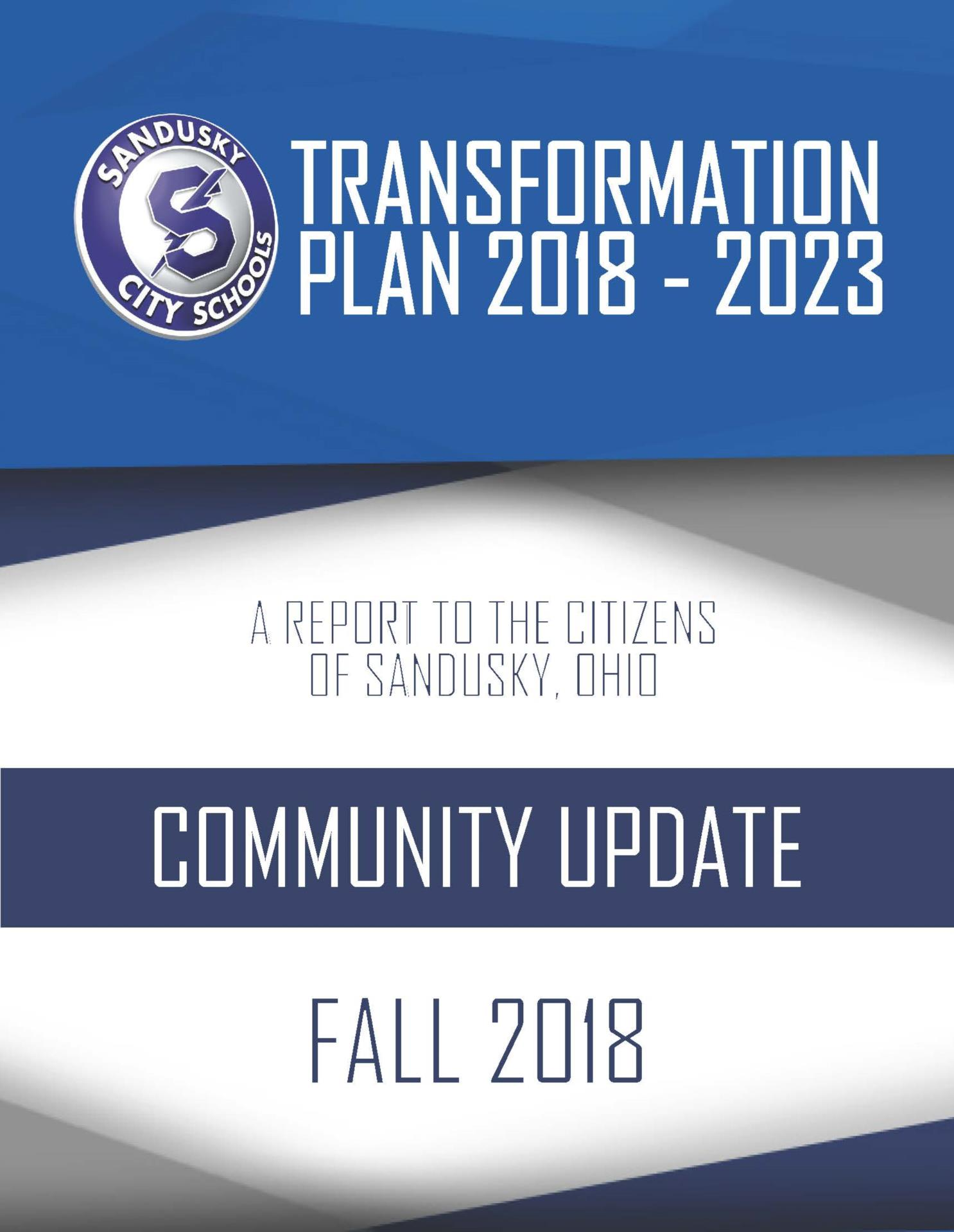 2018 Fall Transformation Plan Update