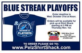 Blue Streak Playoff Shirts