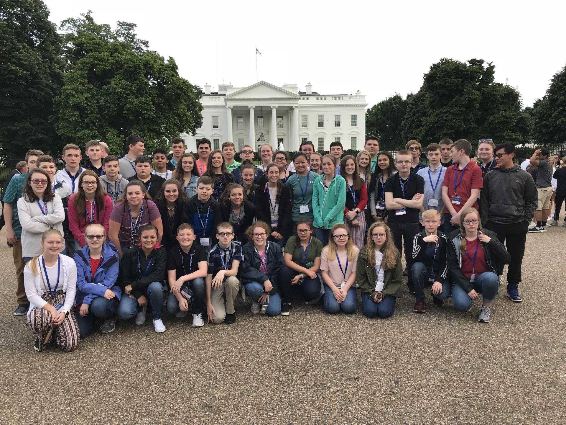 8th Grade Students in front of the White House