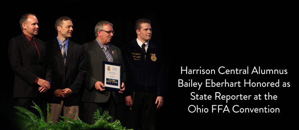 Harrison Central Alumnus Bailie Eberhart Honored as State Reporter at the Ohio FFA Convention