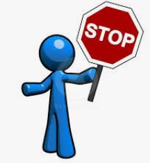 blue man holding stop sign