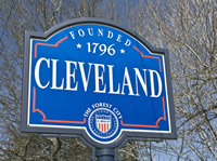 "sign reading ""Cleveland, founded 1796"""