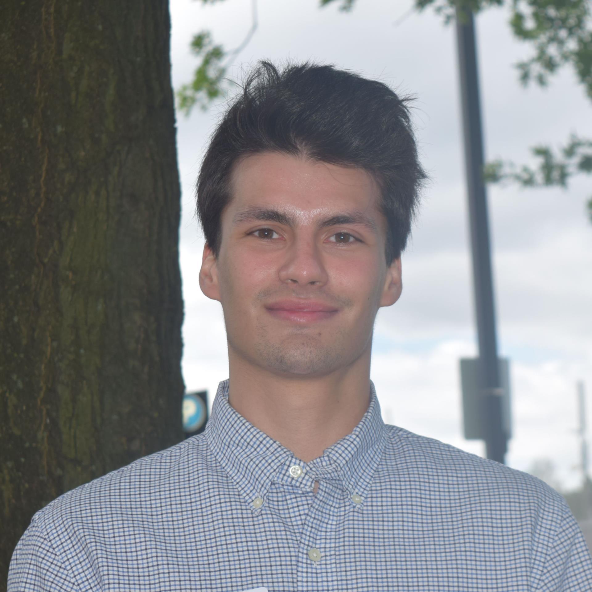 MPH practicum student Joseph Hnath
