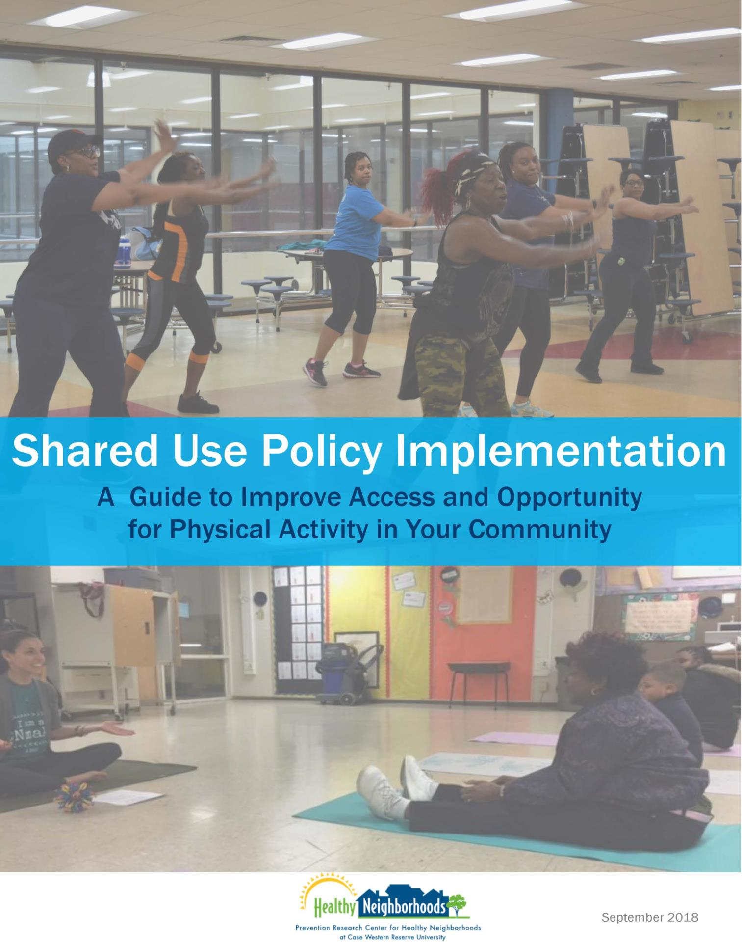 Shared Use Policy implementation guide cover