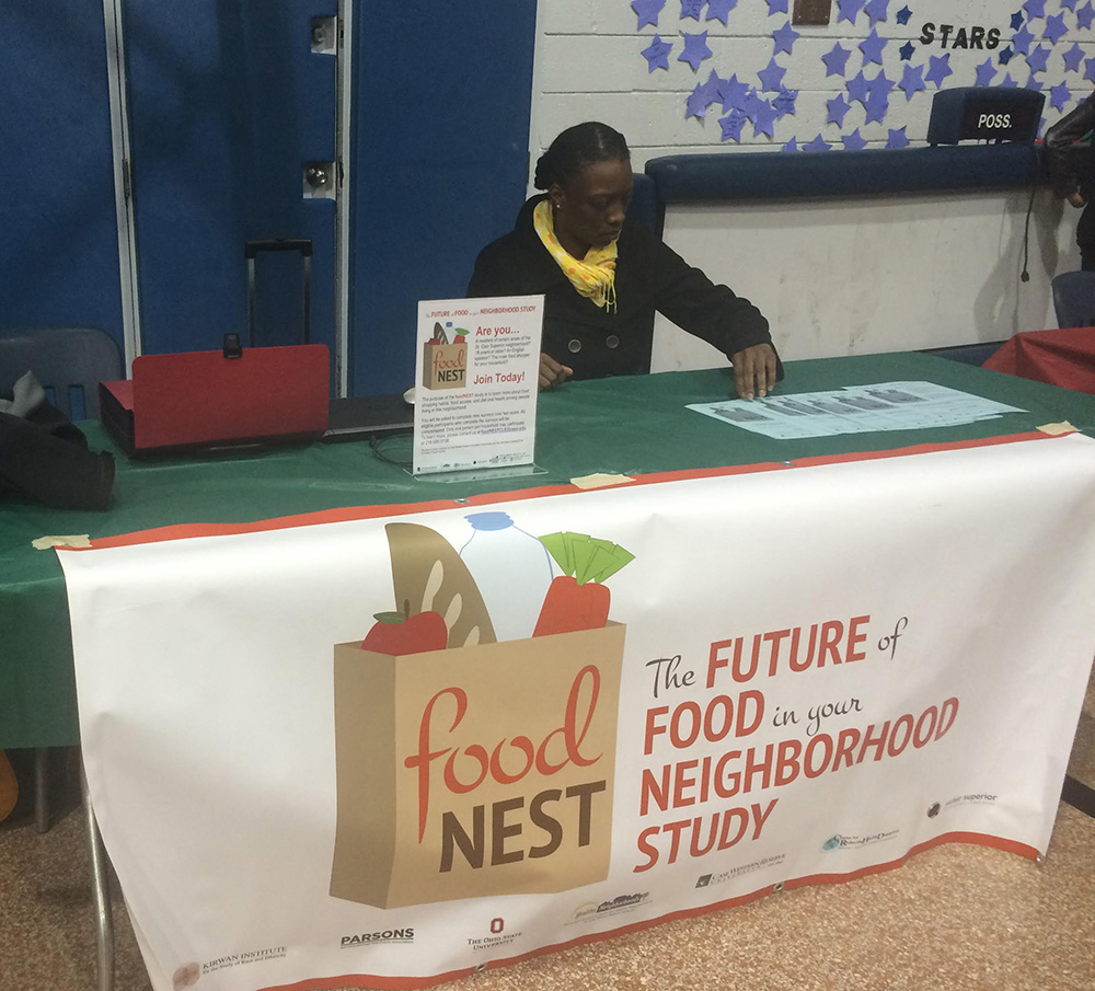 foodNEST Program Manager Chaturia Rouse at a recruitment event