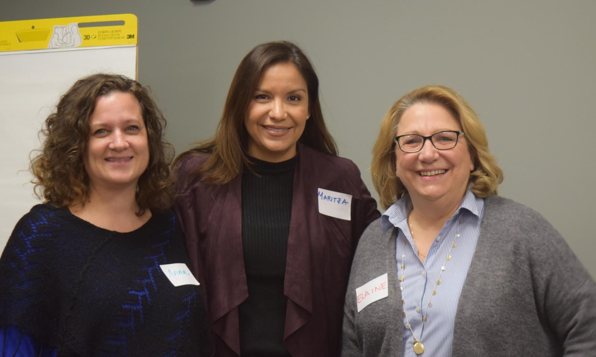 Anna Thornton Matos, Dr. Maritza Salazar Campo, and Dr. Elaine Borawski