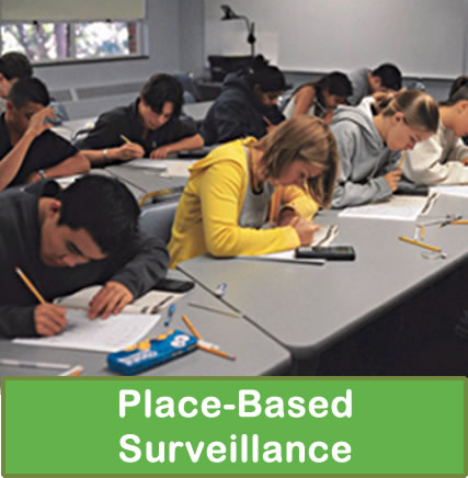 Place-based surveillance
