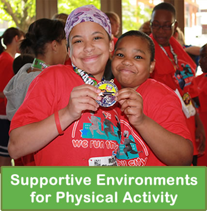 Supportive environments for physical activity