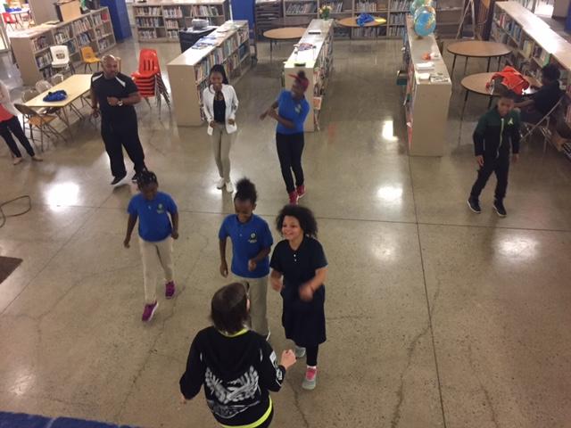 Zumba demonstration at Case Elementary