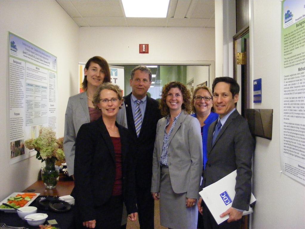Senator Sherrod Brown, Dr. Thomas Frieden, and PRCHN senior staff