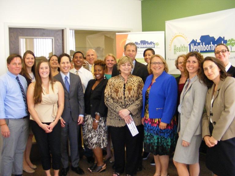 Senator Brown, Dr. Frieden, and the PRCHN staff