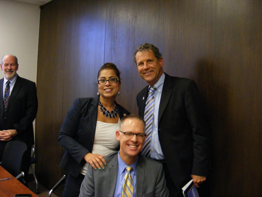 Toinette Parilla, Senator Brown, and Terry Allan