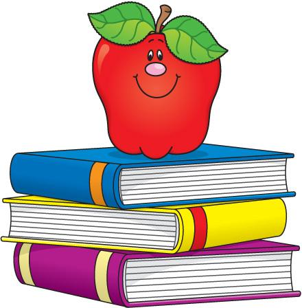 Apple on Books Clip Art