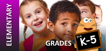 Elementary Grades K-5 Graphic with Children
