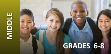 Middle School Grades 7-8 Graphic with Children