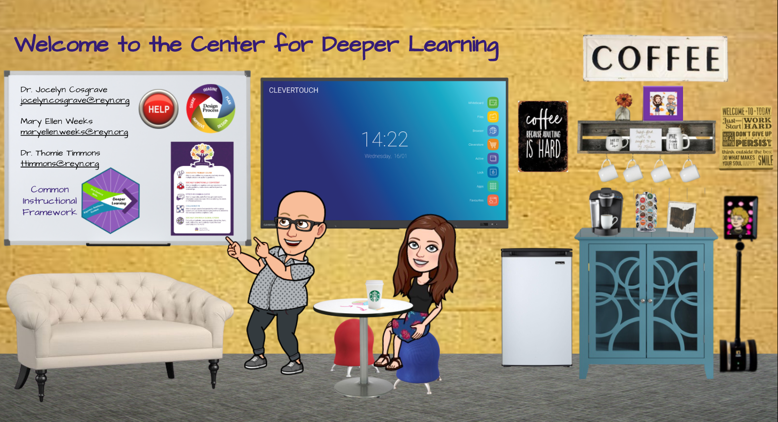 Emoji Center ofr Deeper Learning Link REYN login required
