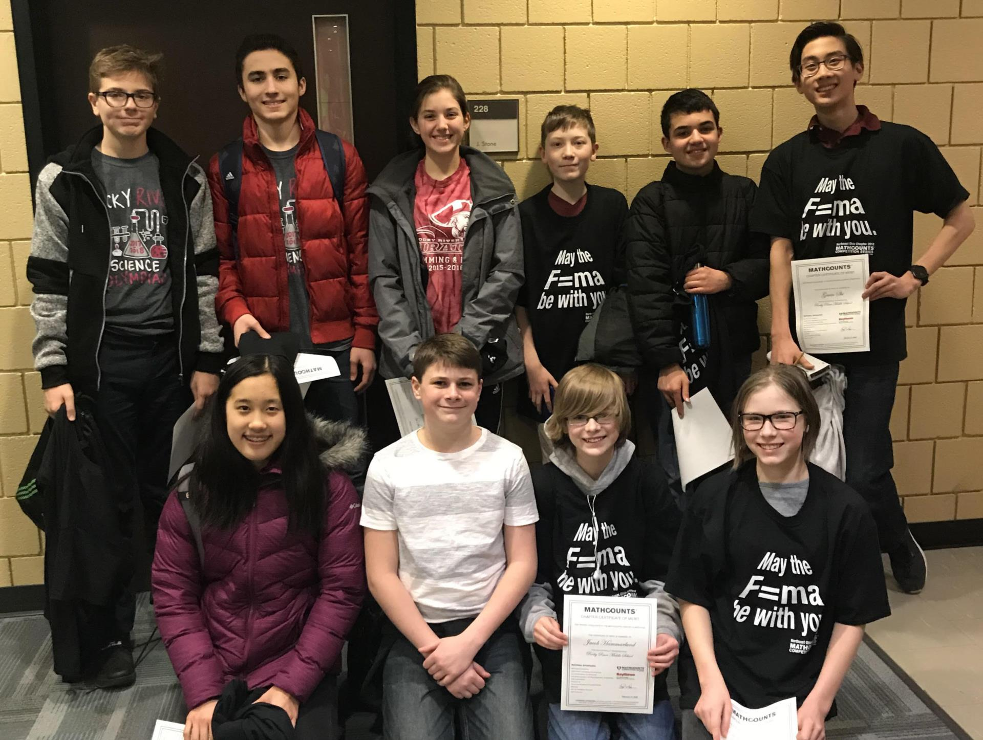 RRMS students compete in the MATHCOUNTS contest.