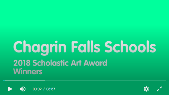 Chagrin Falls Video of Scholastic Art Winners 2018