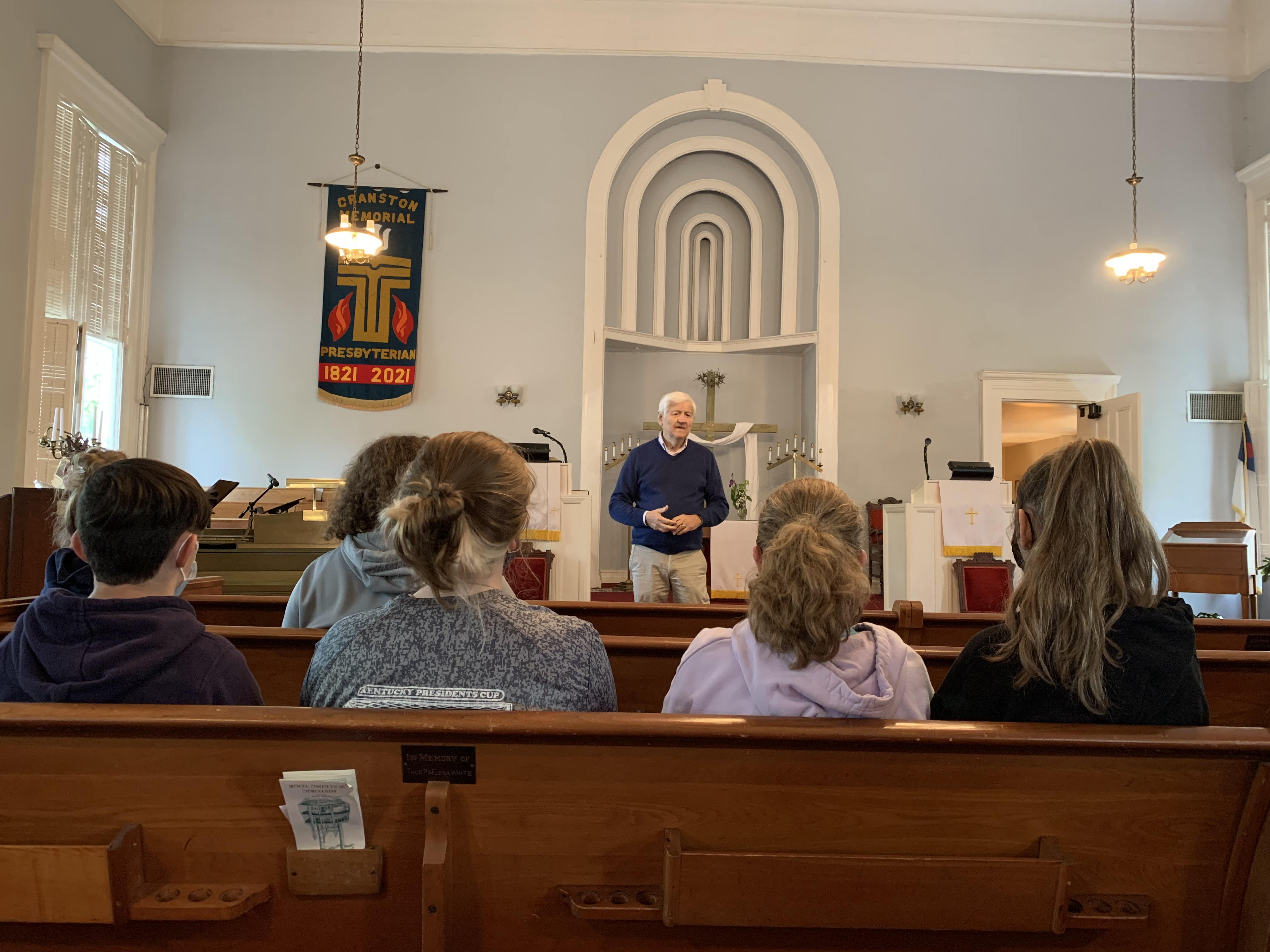 Robert Lees talks about history in local historic site