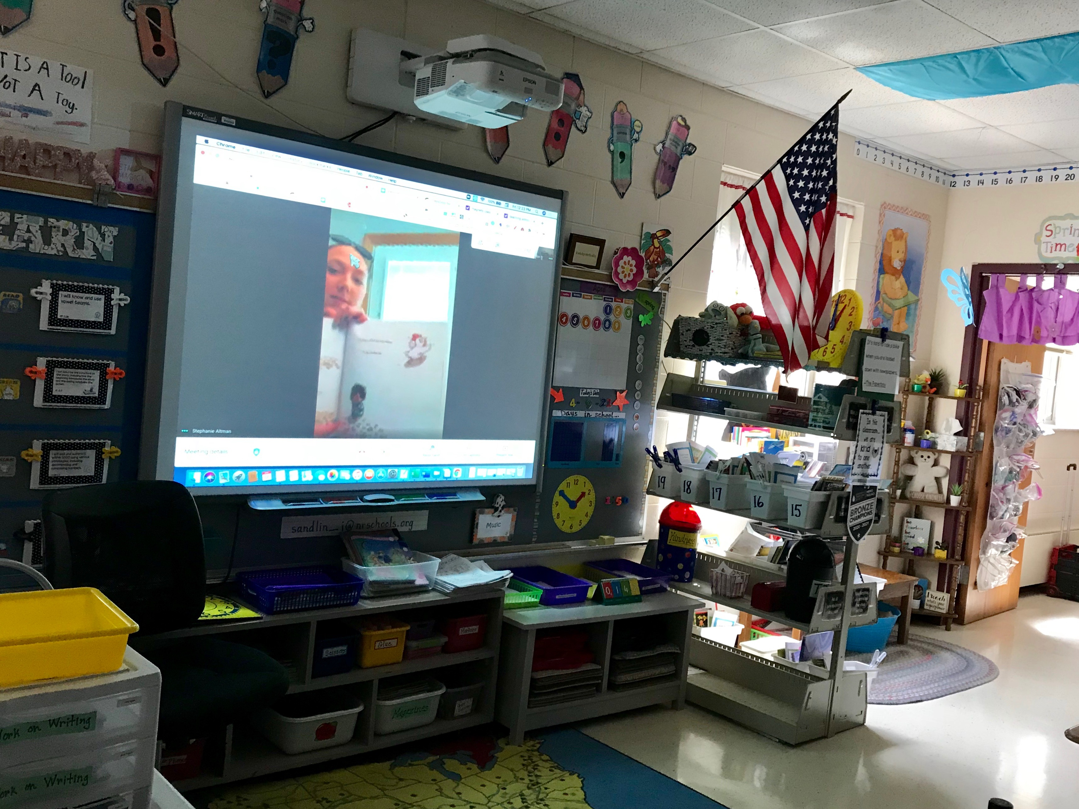 Mystery reader drops in via google hangout to read