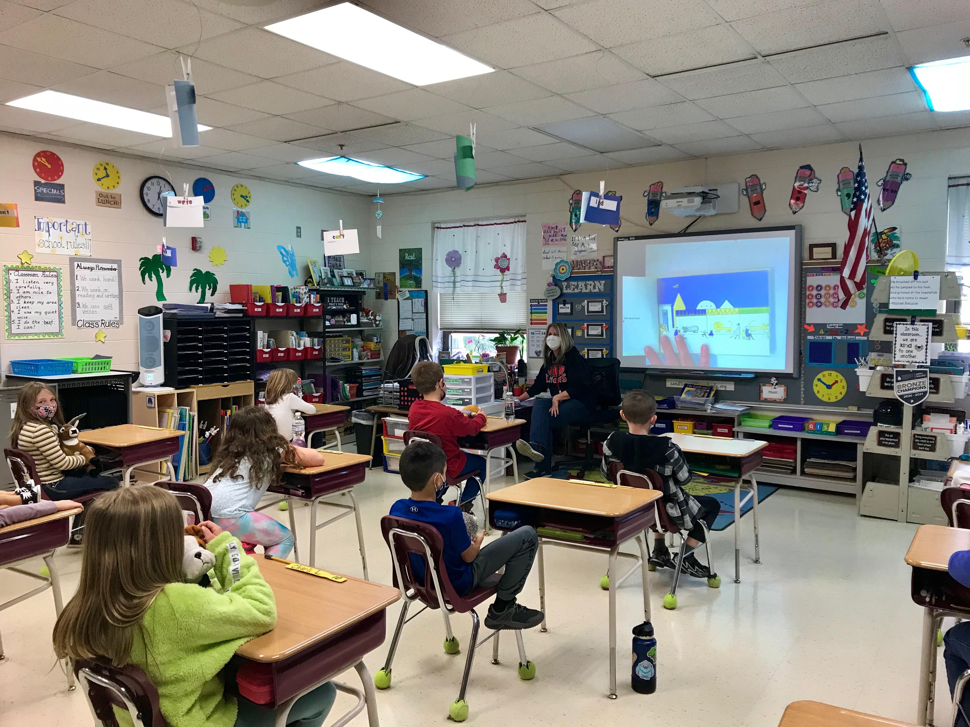 Teacher Michelle Tyler is Mystery Reader