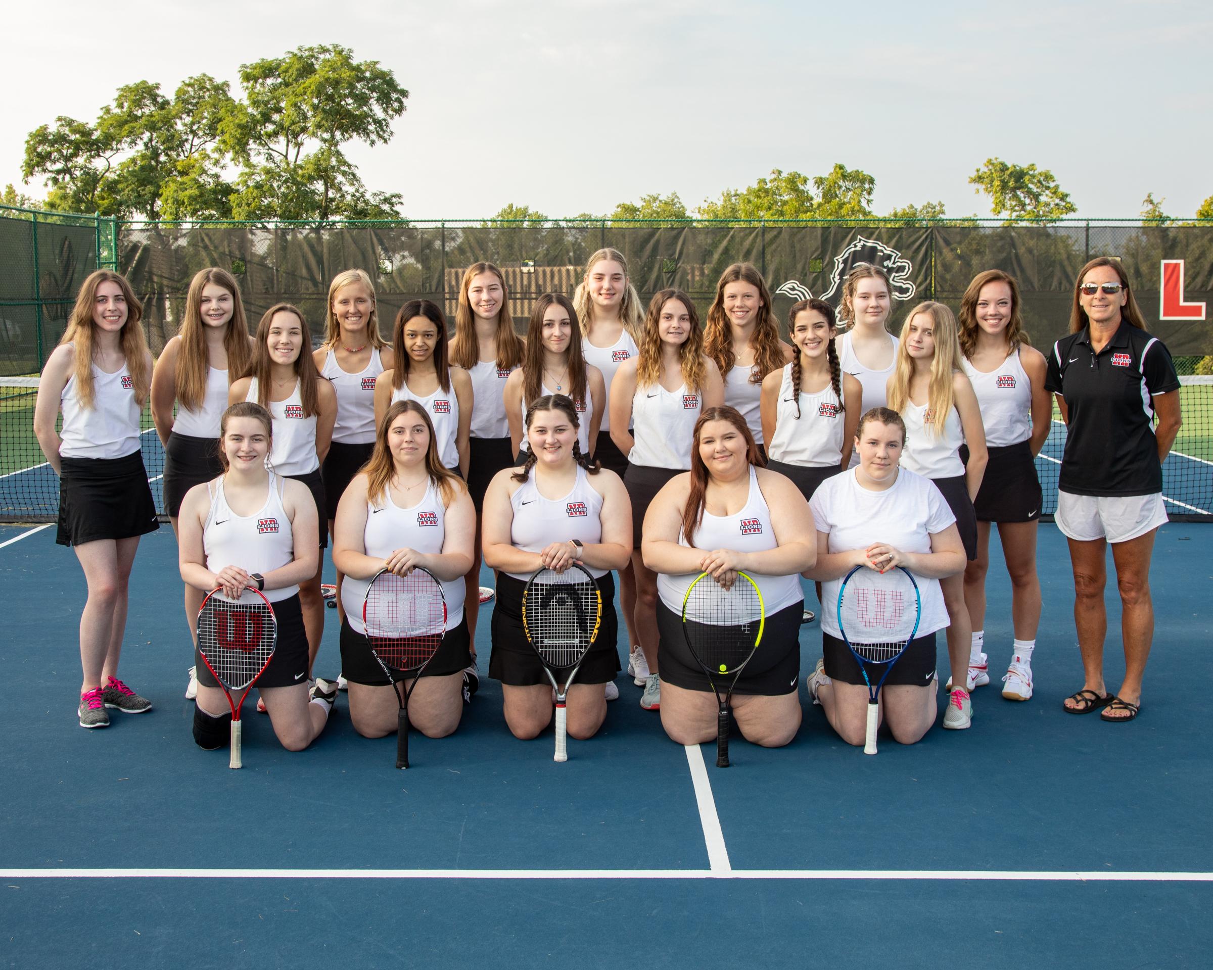 2021 Girls Tennis team
