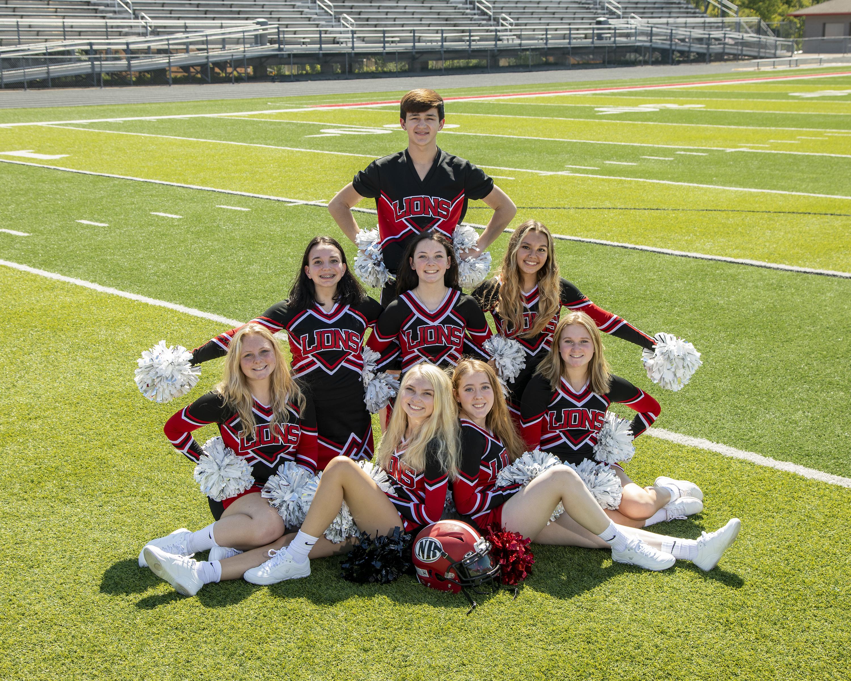 2021 Football Varsity Cheer squad