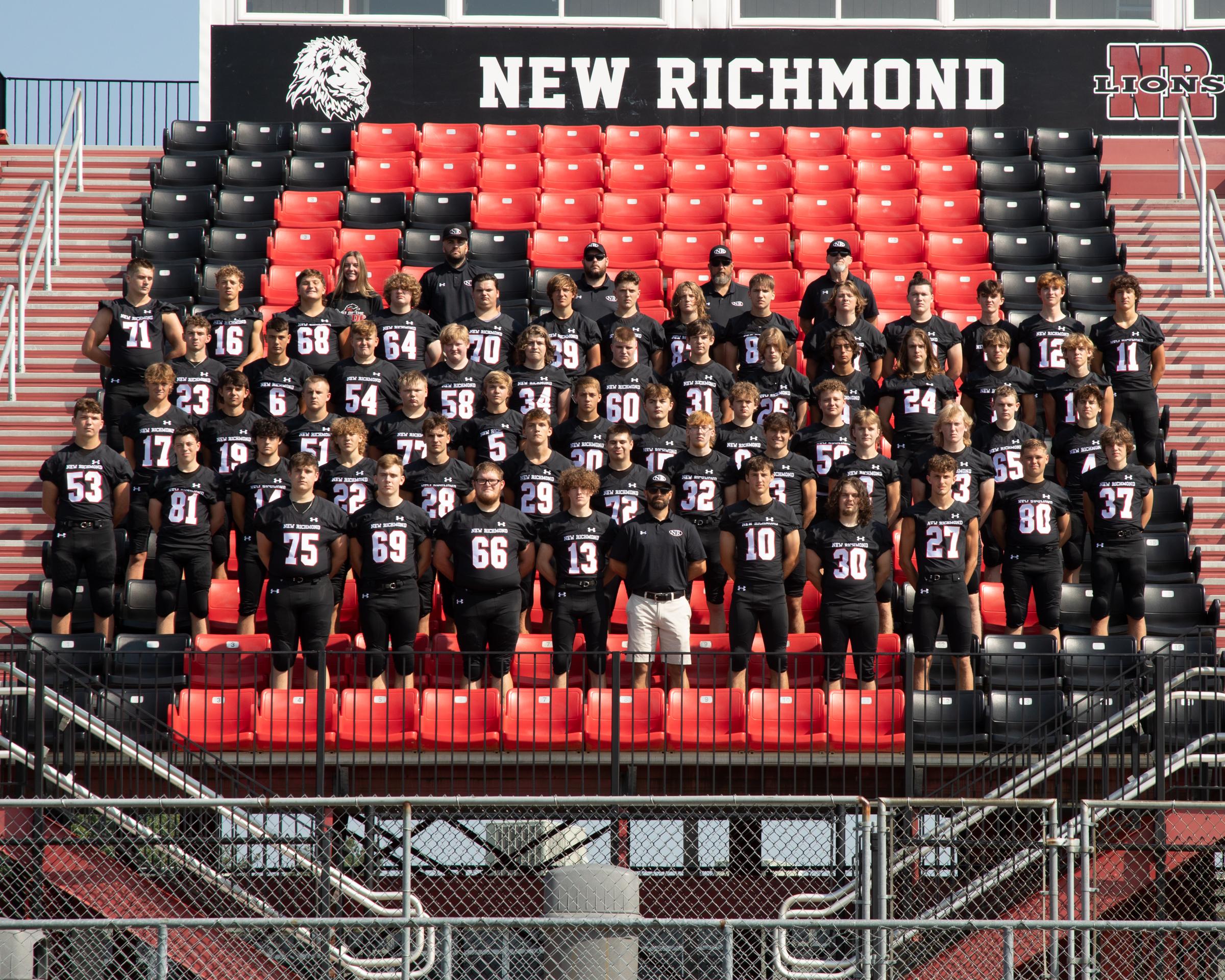 2021 NRHS Football Team photo