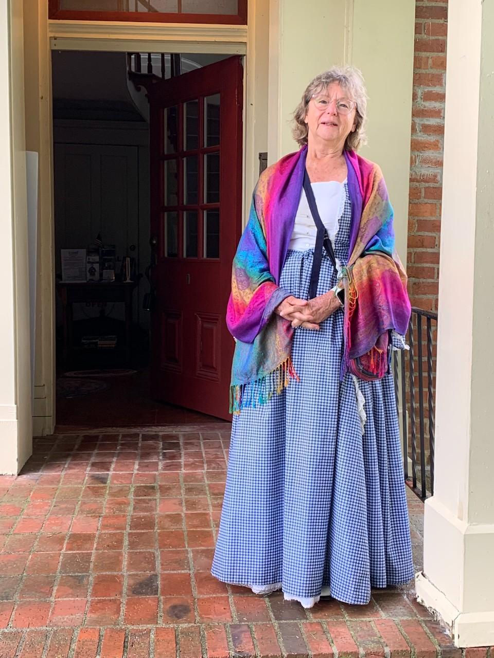 Historic Society person dressed in period costume